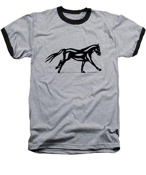 Clementine - Abstract Horse Baseball T-Shirt