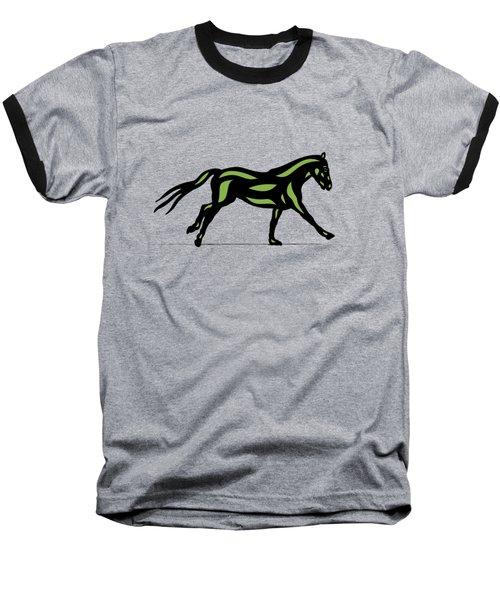 Clementine - Pop Art Horse - Black, Geenery, Hazelnut Baseball T-Shirt