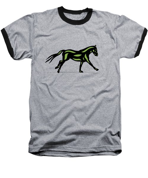 Clementine - Pop Art Horse - Black, Geenery, Hazelnut Baseball T-Shirt
