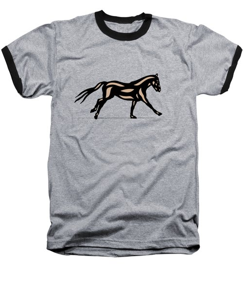 Clementine - Pop Art Horse - Black, Hazelnut, Emerald Baseball T-Shirt