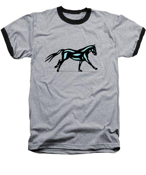 Clementine - Pop Art Horse - Black, Island Paradise Blue, Primrose Yellow Baseball T-Shirt