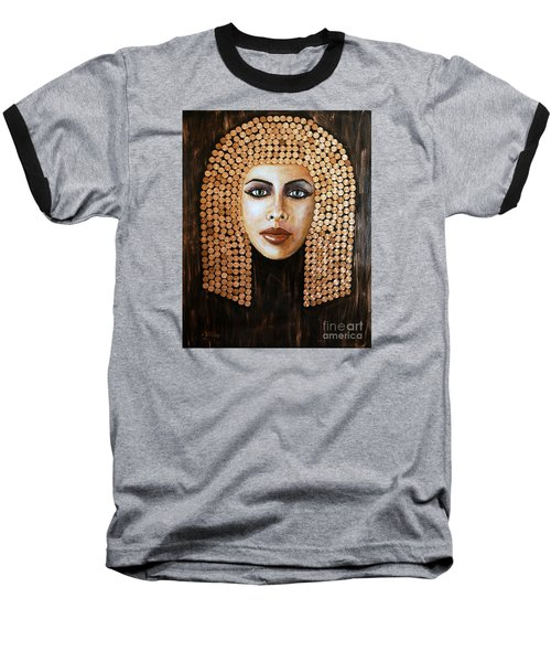 Baseball T-Shirt featuring the painting Cleopatra by Arturas Slapsys