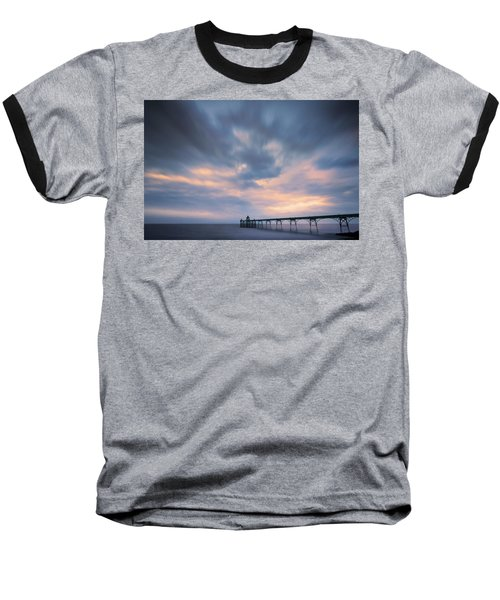 Clevedon Pier Baseball T-Shirt by Dominique Dubied
