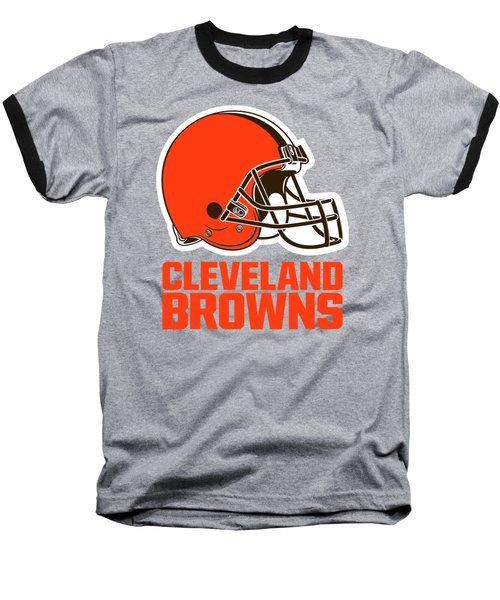 Cleveland Browns Translucent Steel Baseball T-Shirt