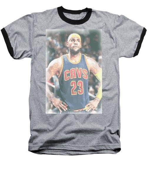 Cleveland Cavaliers Lebron James 5 Baseball T-Shirt