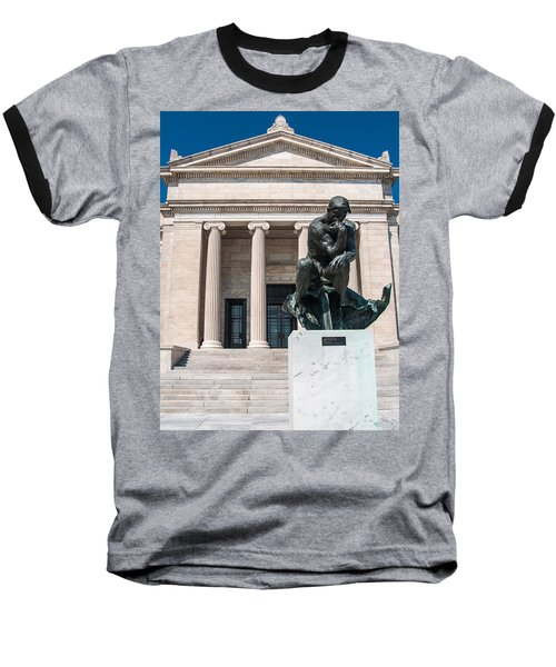 Cleveland Museum Of Art, The Thinker Baseball T-Shirt