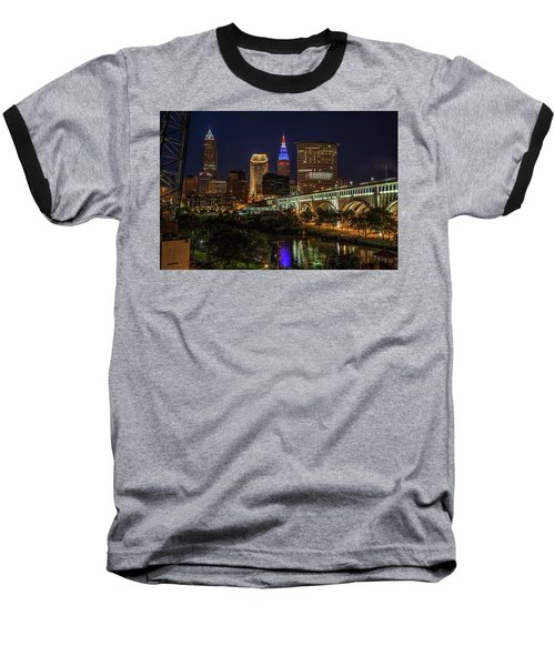 Cleveland Nightscape Baseball T-Shirt