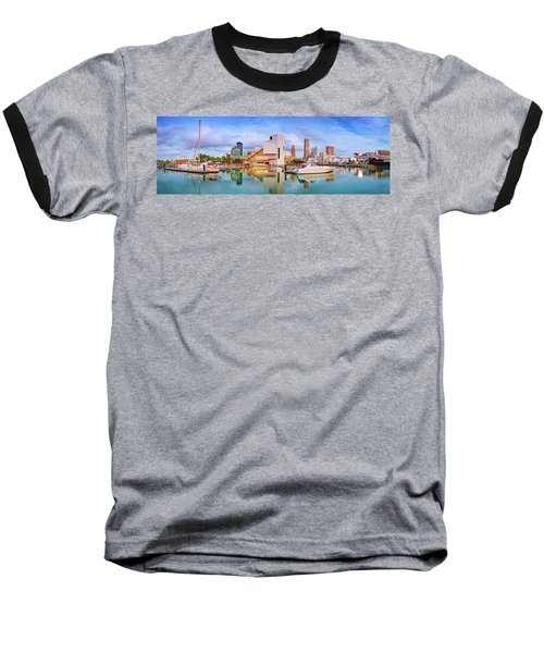 Baseball T-Shirt featuring the photograph Cleveland  Pano 1  by Emmanuel Panagiotakis