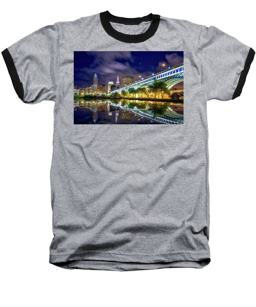 Baseball T-Shirt featuring the photograph Cleveland Skyline 4 by Emmanuel Panagiotakis