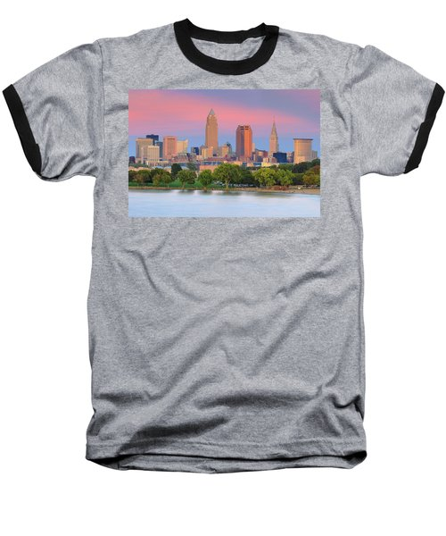 Baseball T-Shirt featuring the photograph Cleveland Skyline 6 by Emmanuel Panagiotakis