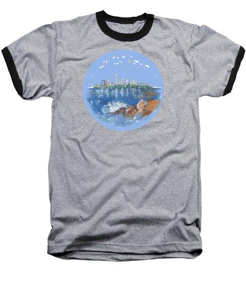 Cleveland Skyline Plate Baseball T-Shirt