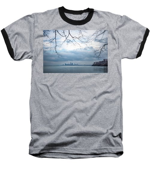 Cleveland Skyline With A Vintage Lens Baseball T-Shirt