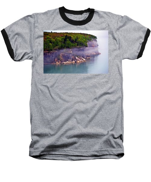 Cliff Fog Baseball T-Shirt