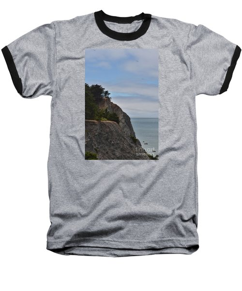 Baseball T-Shirt featuring the photograph Cliff Hanger by Judy Wolinsky