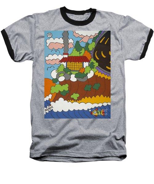 Cliff House Over Ocean Baseball T-Shirt