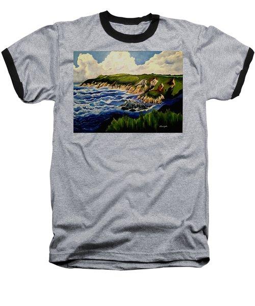 Cliffs And Sea Baseball T-Shirt
