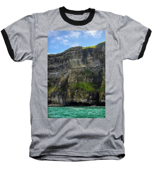 Baseball T-Shirt featuring the photograph Cliffs Of Moher From The Sea Close Up by RicardMN Photography