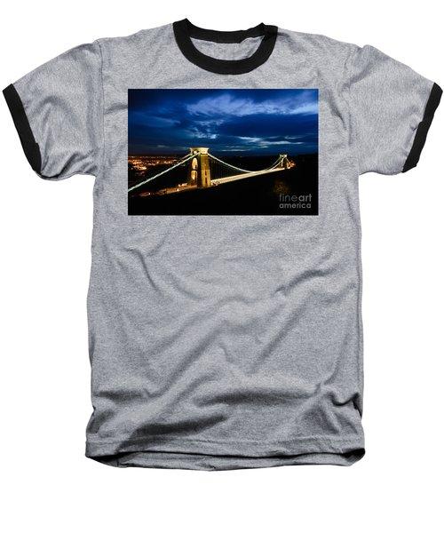 Clifton Suspension Bridge, Bristol. Baseball T-Shirt by Colin Rayner