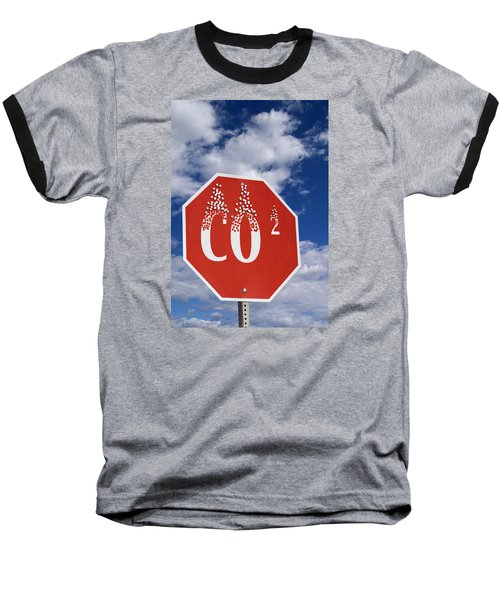 Climate Change Baseball T-Shirt by George Robinson