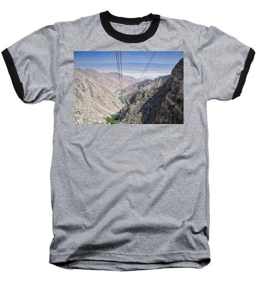Climbing Mount San Jacinto Baseball T-Shirt