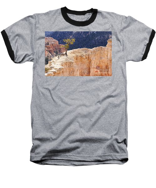 Clinging To The Top Of The Wall Baseball T-Shirt