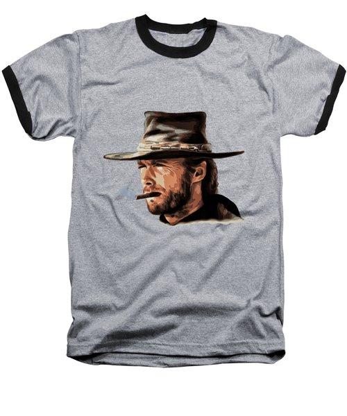 Baseball T-Shirt featuring the digital art Clint by Andrzej Szczerski