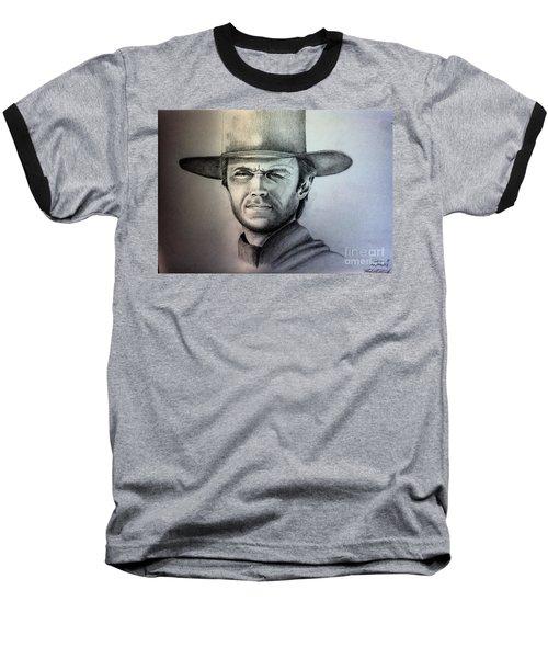 Clint Eastwood Portrait  Baseball T-Shirt