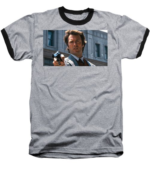 Clint Eastwood With 44 Magnum Dirty Harry 1971 Baseball T-Shirt