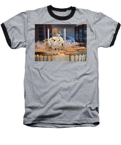 Clinton State Dinner 1 Baseball T-Shirt by Randall Weidner