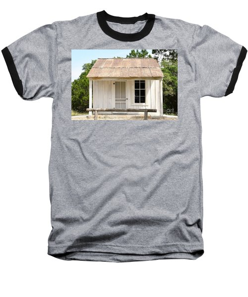 Baseball T-Shirt featuring the photograph Clint's Cabin - Texas - Close-up by Ray Shrewsberry