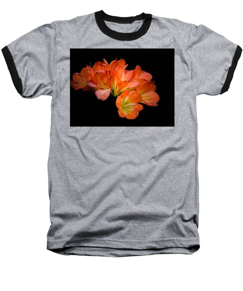 Clivia Flora Baseball T-Shirt by Bruce Pritchett