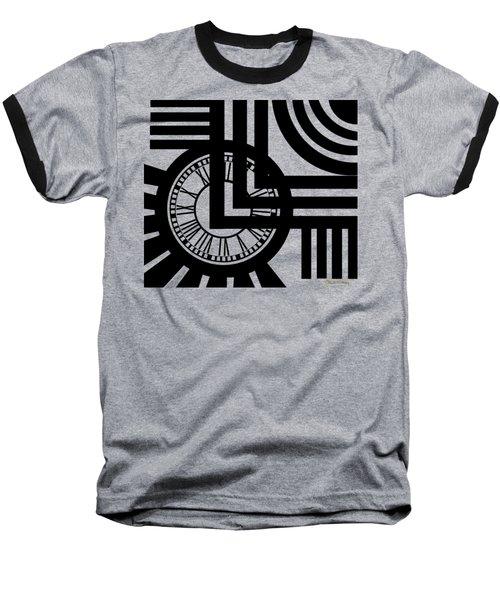 Baseball T-Shirt featuring the digital art Clock Design by Chuck Staley