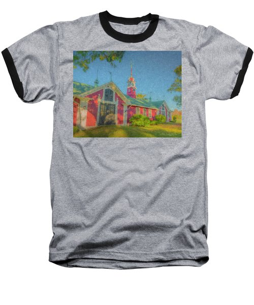 David Ames Clock Farm Baseball T-Shirt