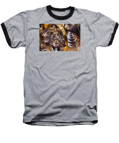Clock Gears Baseball T-Shirt