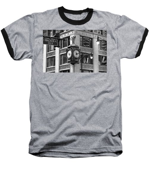 Clock On Jewelers Building - Chicago Baseball T-Shirt