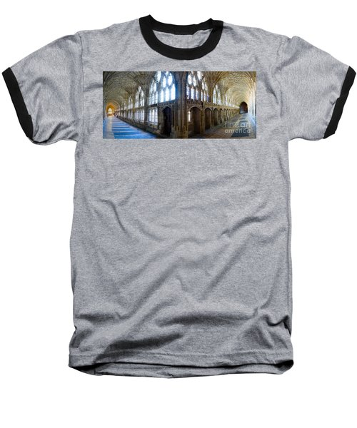 Cloisters, Gloucester Cathedral Baseball T-Shirt by Colin Rayner
