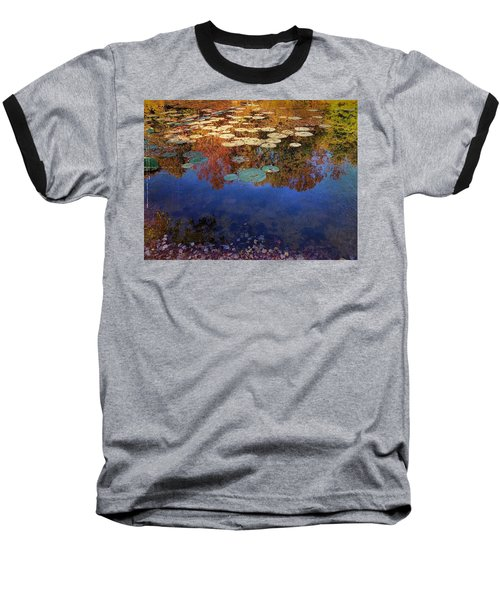 Close By The Lily Pond  Baseball T-Shirt