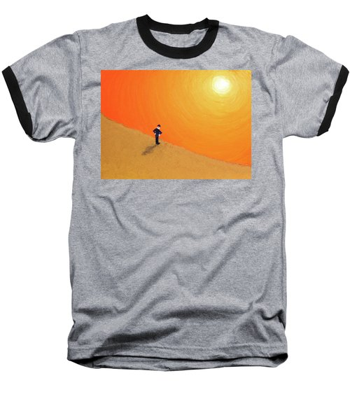 Close To The Edge Baseball T-Shirt by Thomas Blood
