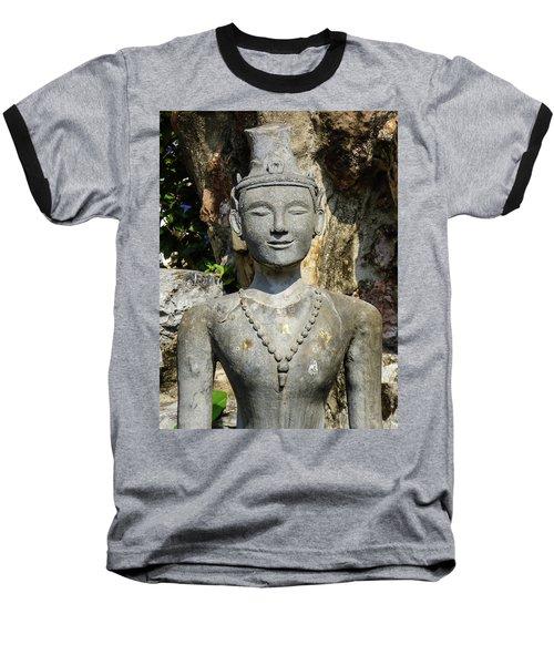 Close Up Of A Statue Depicting A Thai Yoga Pose At Wat Pho Temple Baseball T-Shirt