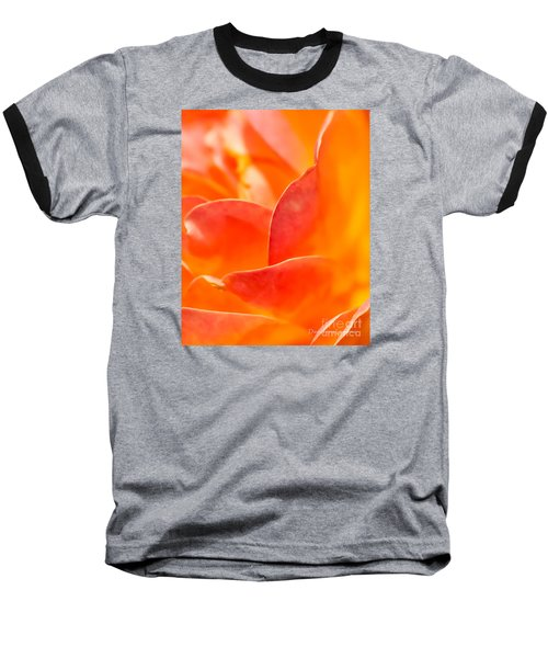 Baseball T-Shirt featuring the photograph Close-up Of An Orange Rose Flower by David Perry Lawrence