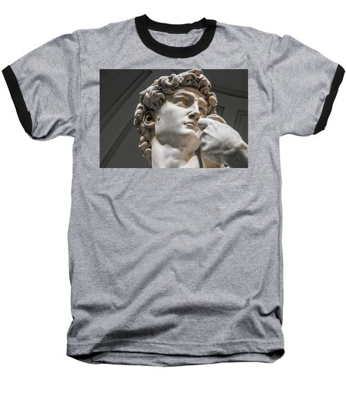 Close Up Of David By Michelangelo Baseball T-Shirt