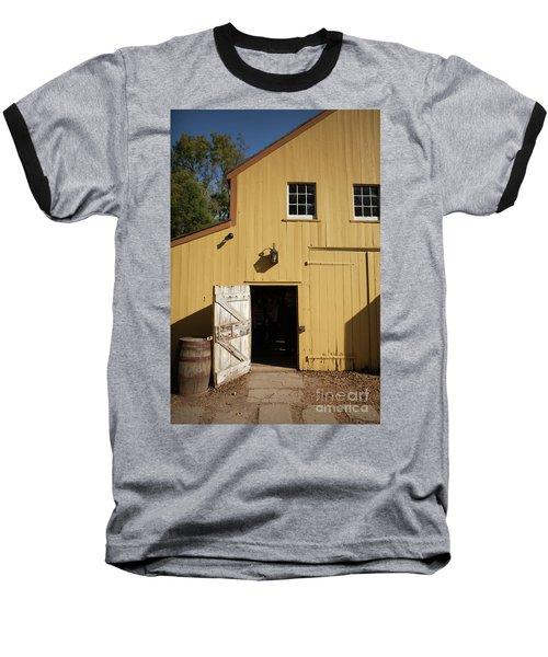 Close Up Of Landis Valley Yellow Barn Baseball T-Shirt