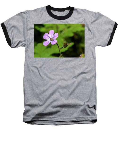 Close Up Of Shining Cranesbill A Baseball T-Shirt
