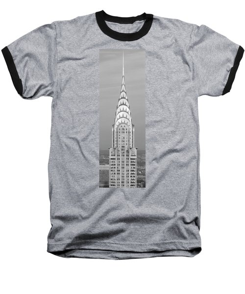 Close Up Of The Chrysler Building At Sunset. It Is The View From 42nd Street And 5th Avenue. Baseball T-Shirt