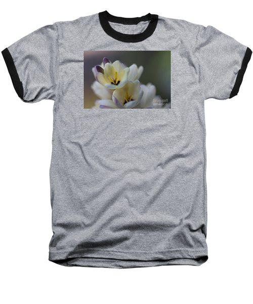 Close-up Of White Freesia Baseball T-Shirt