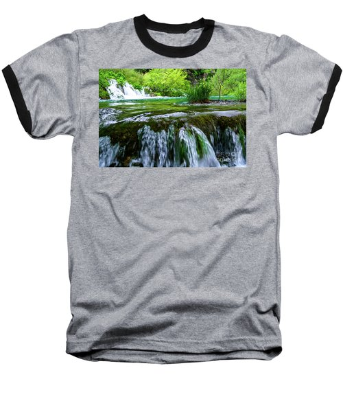 Close Up Waterfalls - Plitvice Lakes National Park, Croatia Baseball T-Shirt
