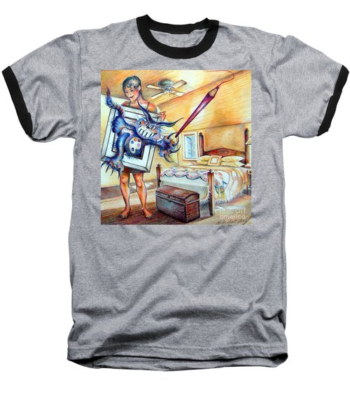 Closet Artist Baseball T-Shirt by Linda Shackelford