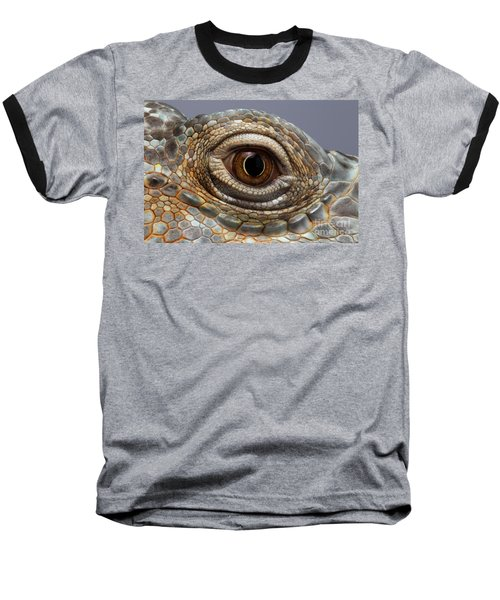Closeup Eye Of Green Iguana Baseball T-Shirt