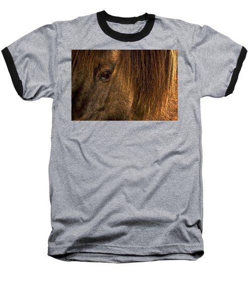 Closeup Of An Icelandic Horse #2 Baseball T-Shirt