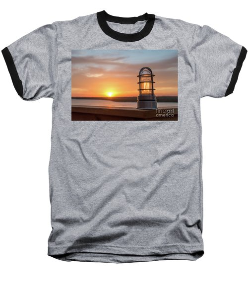 Closeup Of Light With Sunset In The Background Baseball T-Shirt